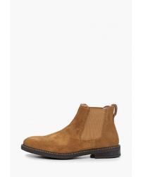 Мужские светло-коричневые замшевые ботинки челси от Gradella