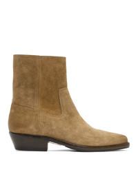 Мужские светло-коричневые замшевые ботинки челси от Isabel Marant