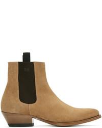 Мужские светло-коричневые замшевые ботинки челси от Marc Jacobs