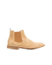 Мужские светло-коричневые замшевые ботинки челси от Officine Creative