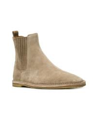 Мужские светло-коричневые замшевые ботинки челси от Saint Laurent