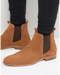Мужские светло-коричневые замшевые ботинки челси от Zign Shoes