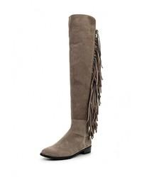 Женские светло-коричневые замшевые ботфорты от Stuart Weitzman