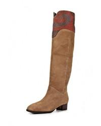 Женские светло-коричневые замшевые ботфорты от Vitacci
