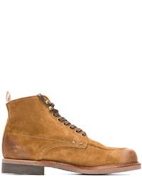 Светло-коричневые замшевые повседневные ботинки