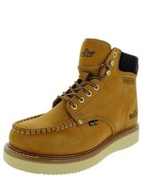 Светло-коричневые замшевые рабочие ботинки