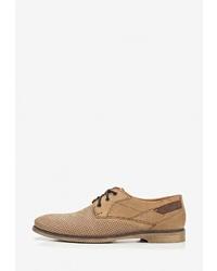 Светло-коричневые замшевые туфли дерби от Alessio Nesca