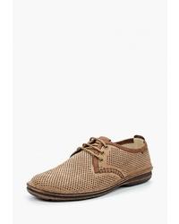 Светло-коричневые замшевые туфли дерби от Legre