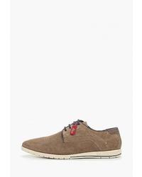 Светло-коричневые замшевые туфли дерби от s.Oliver