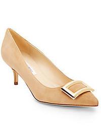 Светло-коричневые замшевые туфли