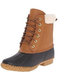 Светло-коричневые зимние ботинки