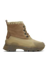 Женские светло-коричневые зимние ботинки от Mou