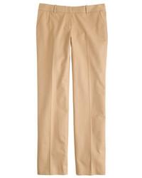 Светло-коричневые классические брюки