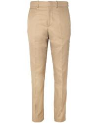 Мужские светло-коричневые классические брюки от Alexander McQueen