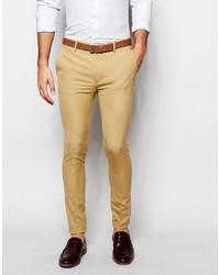Мужские светло-коричневые классические брюки от Asos