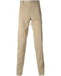 Мужские светло-коричневые классические брюки от DSQUARED2