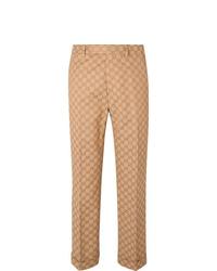 Мужские светло-коричневые классические брюки от Gucci
