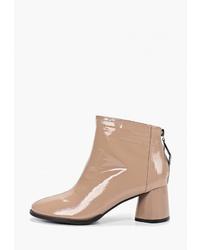 Светло-коричневые кожаные ботильоны от Chezoliny