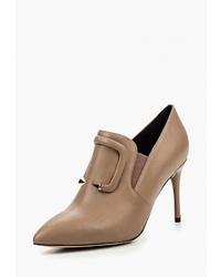 Светло-коричневые кожаные ботильоны от Grand Style