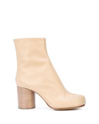 Женские светло-коричневые кожаные ботильоны от Maison Margiela