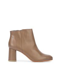 Женские светло-коричневые кожаные ботильоны от Rachel Comey