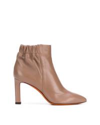 Женские светло-коричневые кожаные ботильоны от Santoni