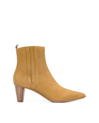 Женские светло-коричневые кожаные ботильоны от Sartore