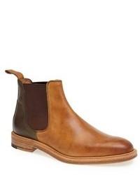Светло-коричневые кожаные ботинки челси