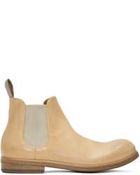 Мужские светло-коричневые кожаные ботинки челси от Marsèll
