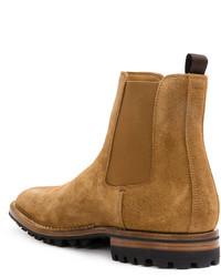 Мужские светло-коричневые кожаные ботинки челси от Officine Creative