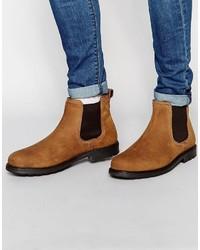 Мужские светло-коричневые кожаные ботинки челси от Red Tape