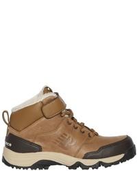 Светло-коричневые кожаные ботинки