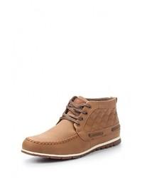 Мужские светло-коричневые кожаные ботинки от Elong