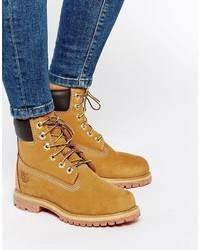 Женские светло-коричневые кожаные ботинки от Timberland