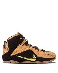 Мужские светло-коричневые кожаные высокие кеды от Nike