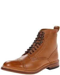 Светло-коричневые кожаные классические ботинки