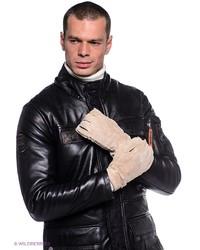 Мужские светло-коричневые кожаные перчатки от Dali Exclusive