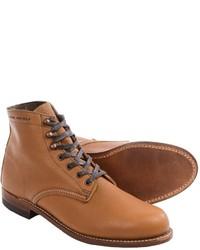 Светло-коричневые кожаные повседневные ботинки