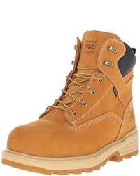 Светло-коричневые кожаные рабочие ботинки