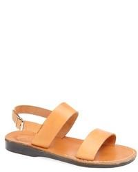 Светло-коричневые кожаные сандалии