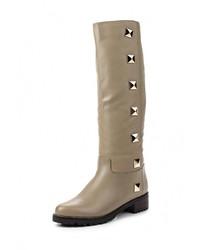 Светло-коричневые кожаные сапоги от Allegri