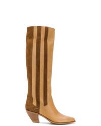 Светло-коричневые кожаные сапоги от Golden Goose Deluxe Brand