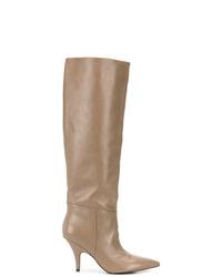 Светло-коричневые кожаные сапоги от Kendall & Kylie