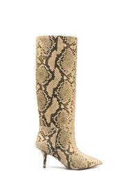 Светло-коричневые кожаные сапоги от Yeezy