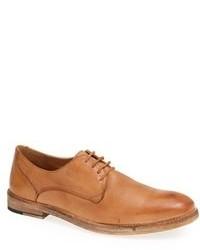 Светло-коричневые кожаные туфли дерби