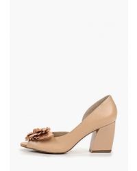 Светло-коричневые кожаные туфли от Indiana