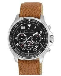 Светло-коричневые кожаные часы