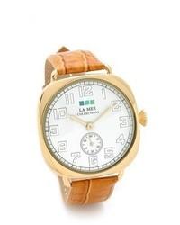 Женские светло-коричневые кожаные часы от La Mer