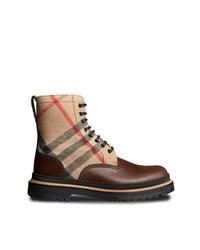 Светло-коричневые повседневные ботинки из плотной ткани
