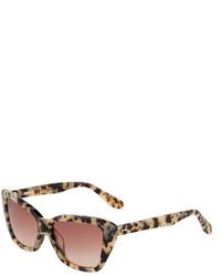 Светло-коричневые солнцезащитные очки с леопардовым принтом